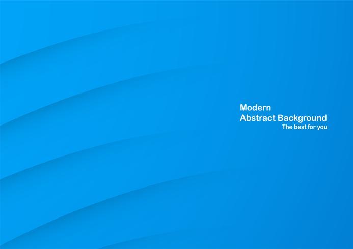 Abstrakt blå kurva bakgrund med kopia utrymme för vit text. Modern malldesign för omslag, broschyr, webbbanner och tidskrift.
