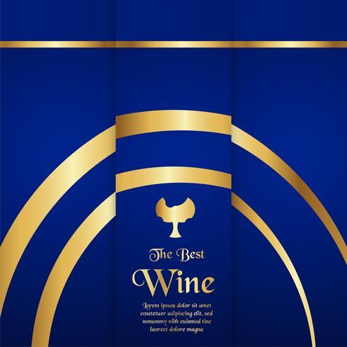 Plantilla de empaque de lujo en estilo moderno para tapa de vino, caja de cerveza. Ilustración de vector en concepto premium. EPS 10.