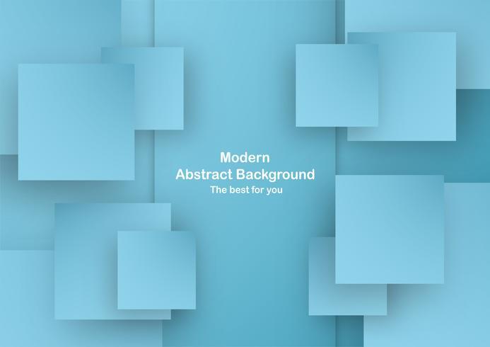 Abstrakter blauer Hintergrund in der quadratischen Form mit Pastellfarbe. Vorlage für Business-Präsentation, Cover. Neue Tendenz der Vektorillustration mit Art 3D.