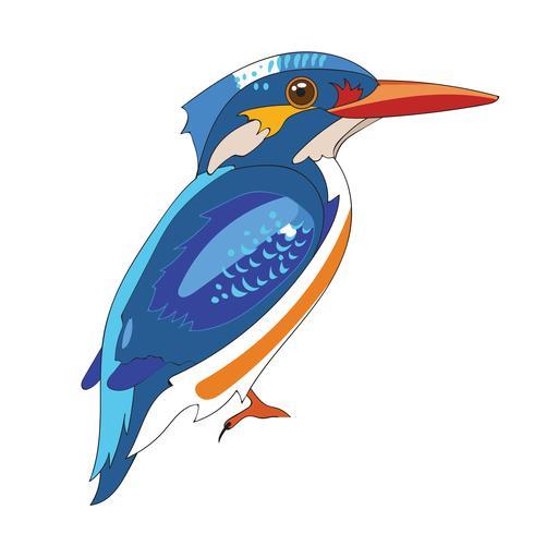 Blauer König Fisher