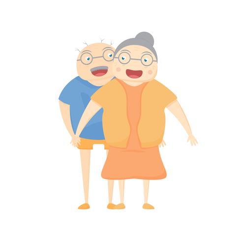 Activité familiale sourit sur fond blanc. Illustration vectorielle au design plat.