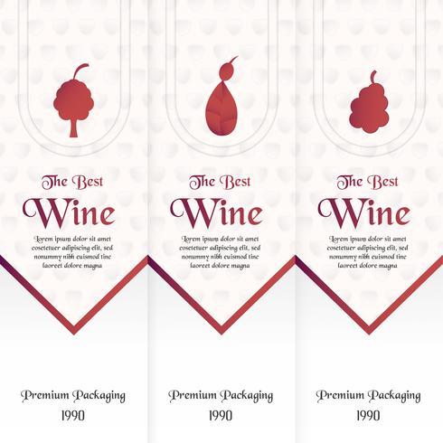 Luxe verpakking sjabloon in moderne stijl voor wijn dekken, bier vak. Vectorillustratie in premium concept. Papier gesneden en ambacht EPS 10.
