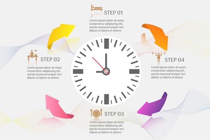 Ontwerpsjabloon Business 4 opties of stappen infographic grafiekelement