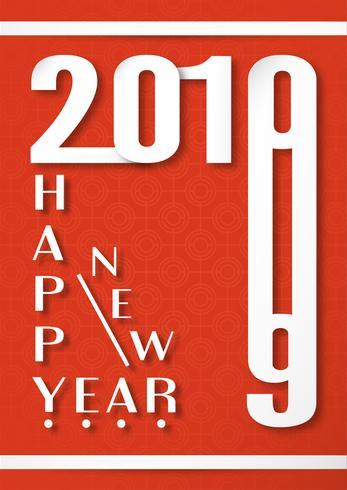 Cover design per Happy new year 2019.