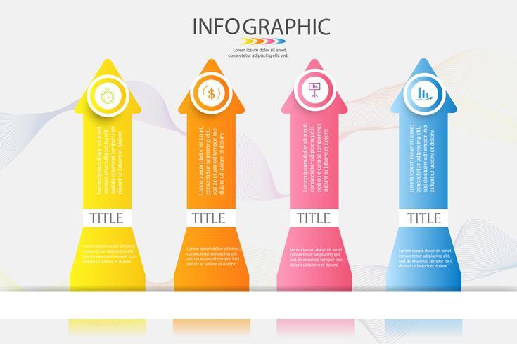 Plantilla de diseño de negocios 4 opciones o pasos infografía gráfico elemento