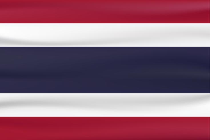 New type flag of Thailand country with red, blue and white color.