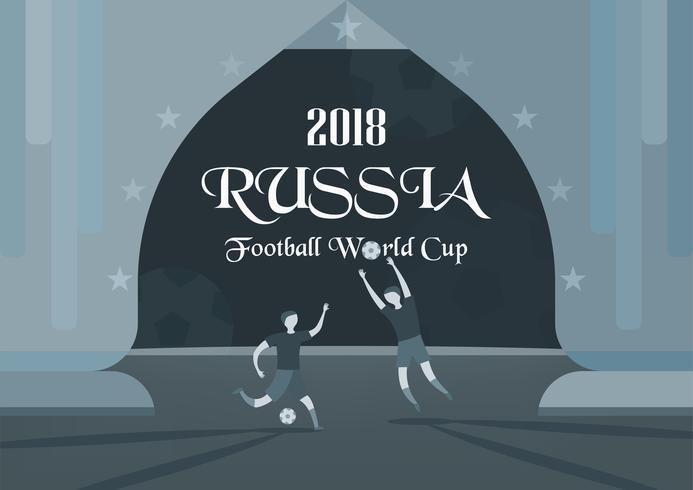 Udonthani, Thaïlande - 17 avril 2018: fond de coupe du monde FIFA en 2018, Russie. Création de personnage avec sportif. vecteur