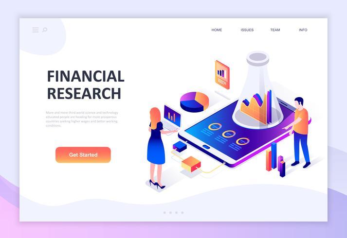 Concept isométrique moderne design plat de la recherche financière