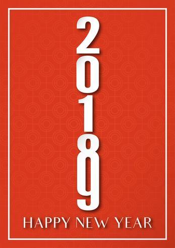 Diseño de portada para feliz año nuevo 2019.