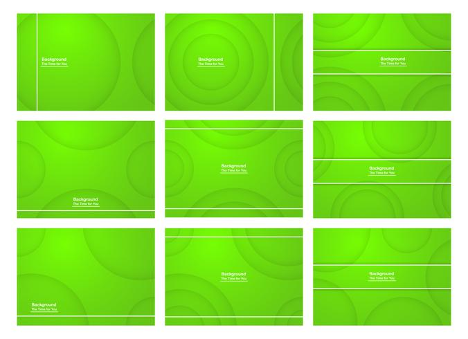 Set of green abstract background with copy space for text. Modern template design for cover, web banner, screen and magazine. Vector illustration.