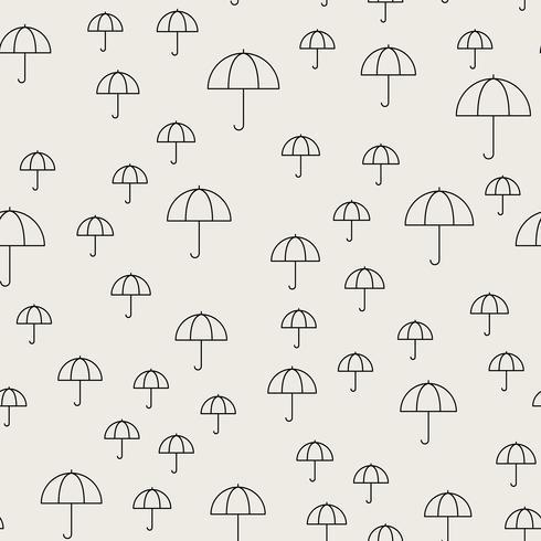 Patrón de fondo sin fisuras Concepto abstracto y clásico. Tema elegante diseño creativo geométrico. Ilustración vectorial Color blanco y negro. Forma de sombrilla para verano invierno y temporada de lluvias.