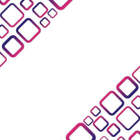 Fond blanc avec un vecteur rectangle bleu et rouge