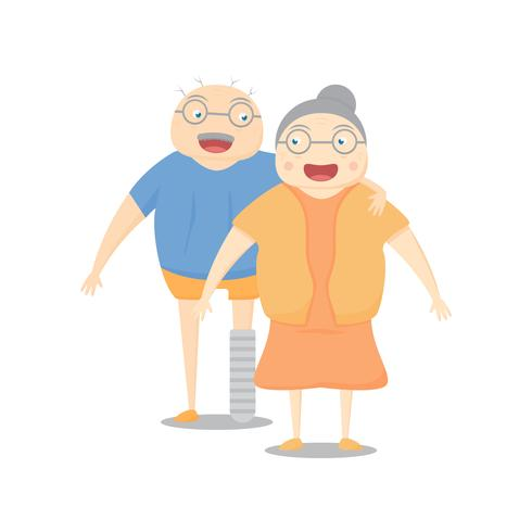 Family activity is smilling on white background. Vector illustration in flat design.