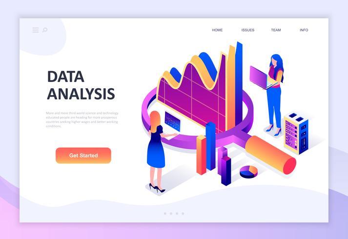 Modern plat ontwerp isometrisch concept van Auditing, Data-analyse