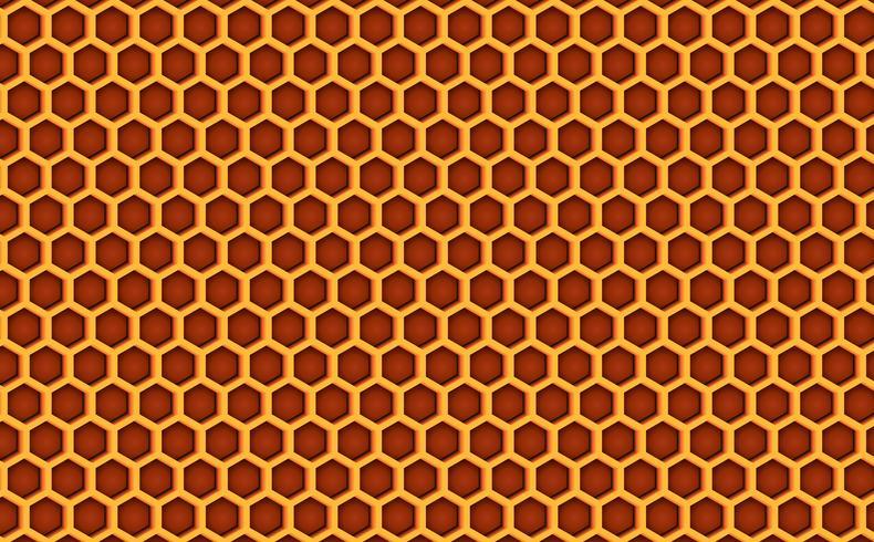 Honungskamma bikupemönster texturerad bakgrund. Vektor illustration