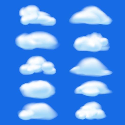 Abstracte wolk op blauwe hemelachtergrond. Natuur concept vector