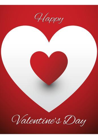 Vettore di disegno della cartolina d'auguri dei biglietti di S. Valentino