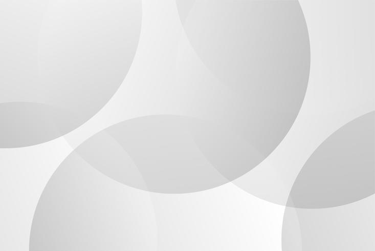 Weißer und grauer Kreiskurvenzusammenfassungs-Hintergrundvektor für Darstellung. Hintergrund und abstraktes Konzept.