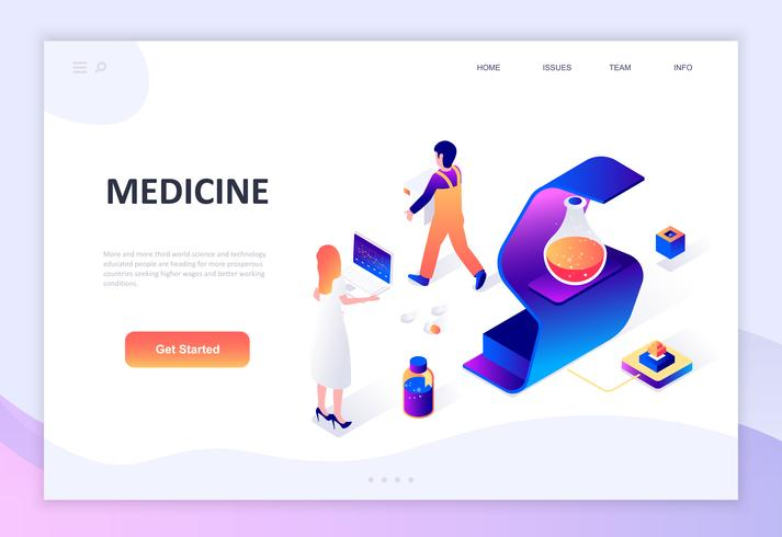 Modern flat design isometric concept of Medicine and Healthcare