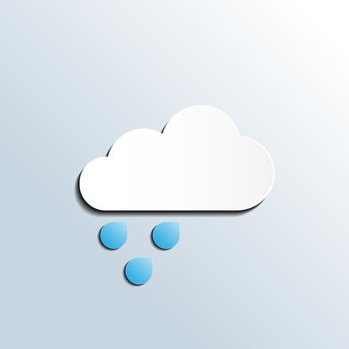 Regenachtige weerbericht pictogram vector