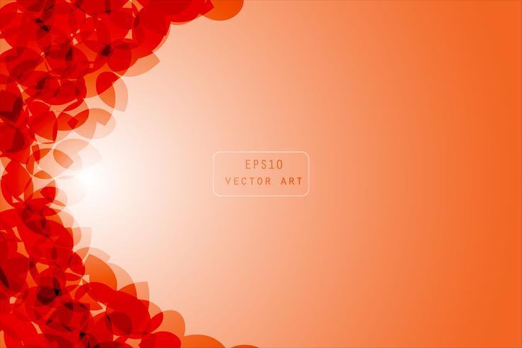 Arancione astratto sfondo vettoriale