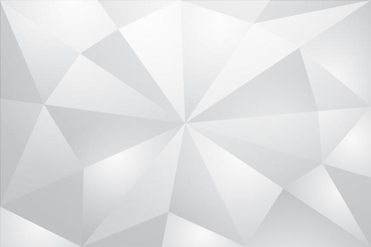 Weißer abstrakter Hintergrundvektor. Grau abstrakt. Hintergrund des modernen Designs für Berichts- und Projektpräsentationsschablone. Vektor-Illustration Grafik. Dreiecks- und Prismenform