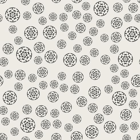 Sömlös mönster bakgrund. Abstrakt och klassiskt koncept. Geometrisk kreativ design snyggt tema. Illustration vektor. Svartvit färg