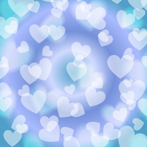 Blue Heart Bokeh, pattern, vector