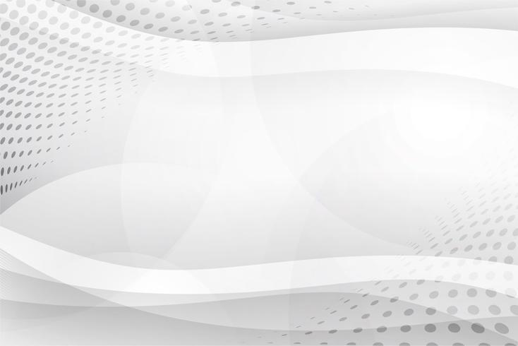 Vetor de fundo abstrato branco. Resumo cinzento. Fundo de design moderno para relatório e modelo de apresentação do projeto. Gráfico de ilustração vetorial. Forma curva futurista e circular