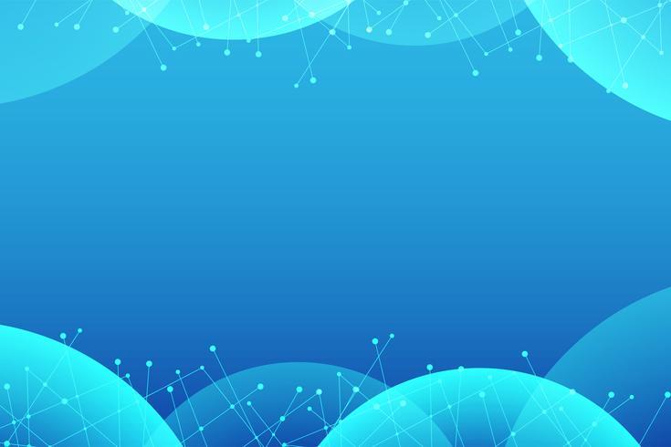 Resumo azul com fundo de vector de ponto de linha