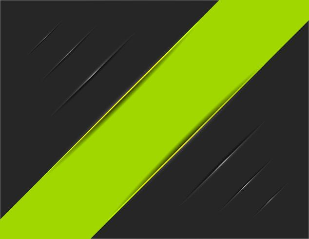 Green Striped on Black Trace vector