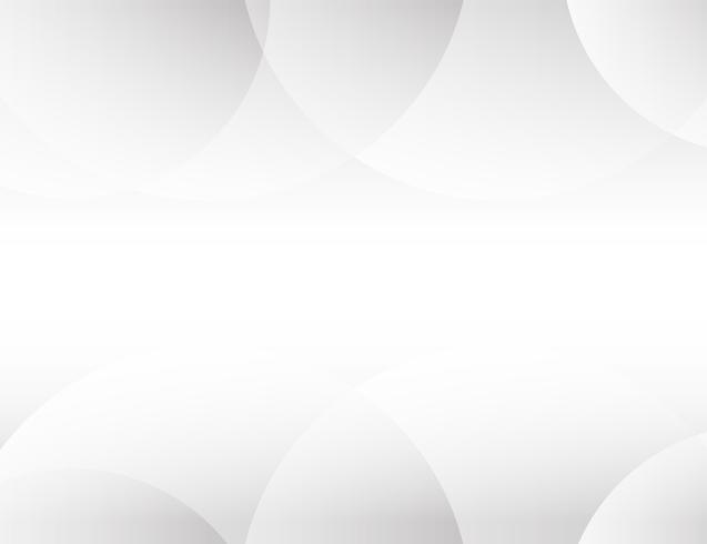 Vecteur de fond abstrait blanc Résumé gris. Contexte de conception moderne pour le modèle de présentation de rapport et de projet. Illustration vectorielle Forme de courbe futuriste et circulaire