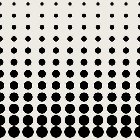 Seamless pattern background. Modern abstract and Classical antique concept. Geometric creative design stylish theme. Illustration vector. Black and white color. Circular dot half tone shape vector