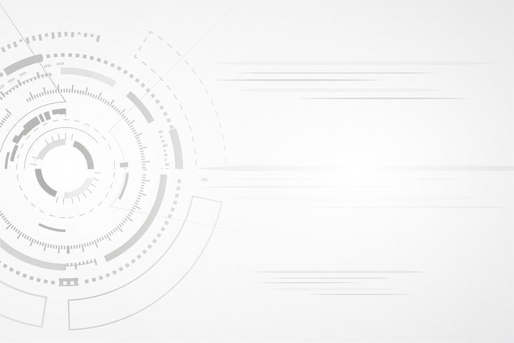 Weißer abstrakter Hintergrundvektor. Grau abstrakt. Hintergrund des modernen Designs für Berichts- und Projektpräsentationsschablone. Vektor-Illustration Grafik. Futuristisches und Kreiskurvenformkonzept.