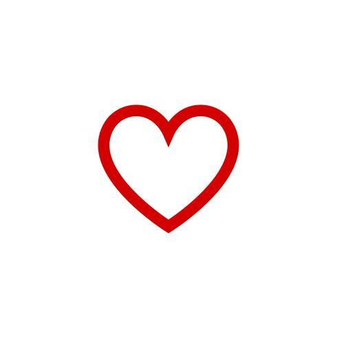 Design-Ikonenvektor des Herzens flacher für Valentinstag. Liebes-Konzept