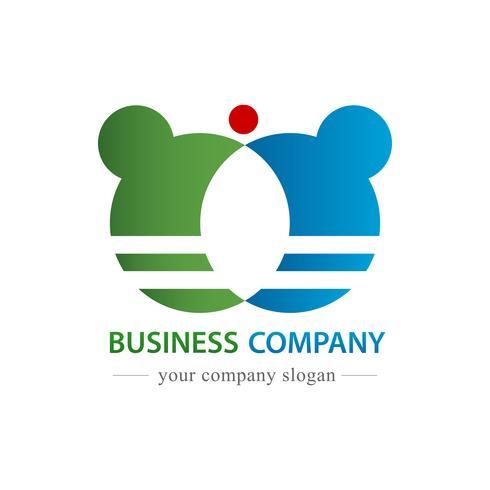 Zakelijke bedrijfslogo vector. Commercieel en handelsconcept. witte geïsoleerde achtergrond