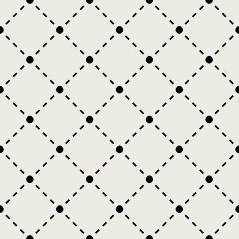 Sem costura de fundo. Conceito moderno abstrato e clássico antigo. Tema elegante design criativo geométrica. Vetor de ilustração. Cor preto e branco. Tecnologia de conexão de linha e social