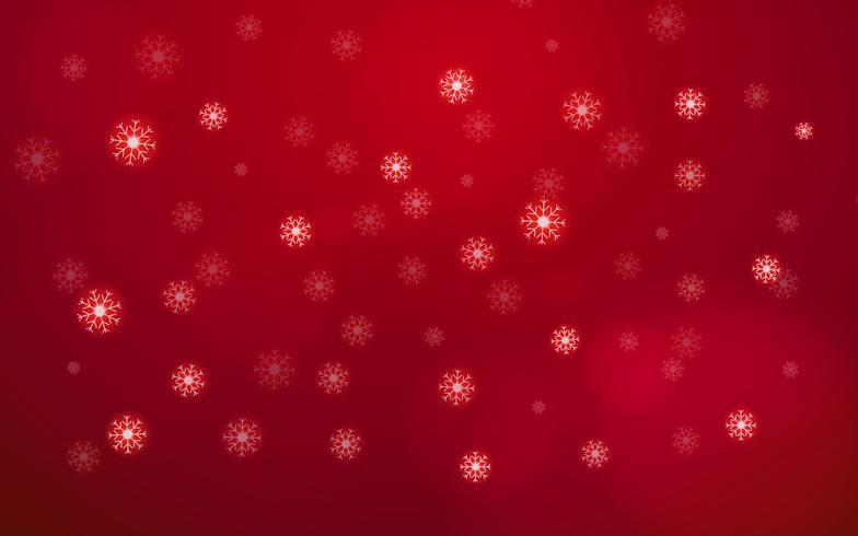 Flocon de neige blanche abstraite tombant du ciel sur fond rouge. Joyeux Noël et bonne année concept de jour. Beau thème d'élément de paillettes de carte de décoration de Noël. Vacances dans le monde et thème saisonnier.