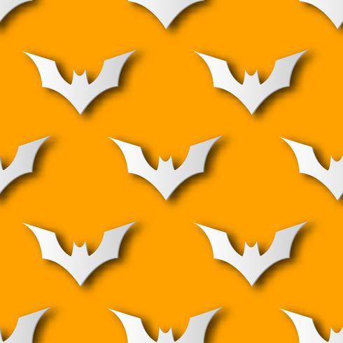 Naadloze Halloween-knuppeldocument achtergrond van het kunstpatroon. Oranje kleur voor gelukkig Halloween dag versieren kaart en geschenk verpakking concept. Leuk grafisch ontwerp