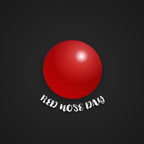 Röd näsdag på isolerad svart bakgrund. Holiday and Wallpaper koncept