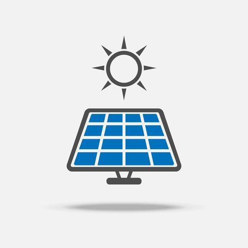 Logotipo e icono de la célula solar. Concepto de ahorro de energía y energía. Conjunto de la colección del vector de la ilustración. Tema de signo y símbolo.