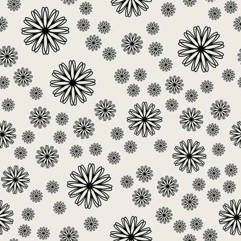 Nahtlose Muster Hintergrund. Modernes abstraktes und klassisches antikes Konzept. Stilvolles Thema des geometrischen kreativen Designs. Abbildung Vektor. Schwarzweiss-Farbe. Blumen- und Blumenform vektor