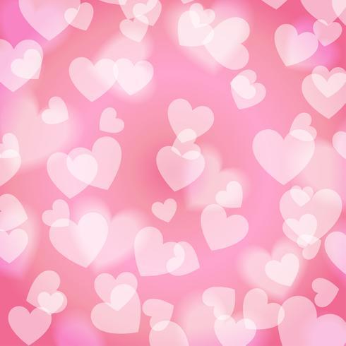 Pink Sweet Bokeh Heart, pattern, vector