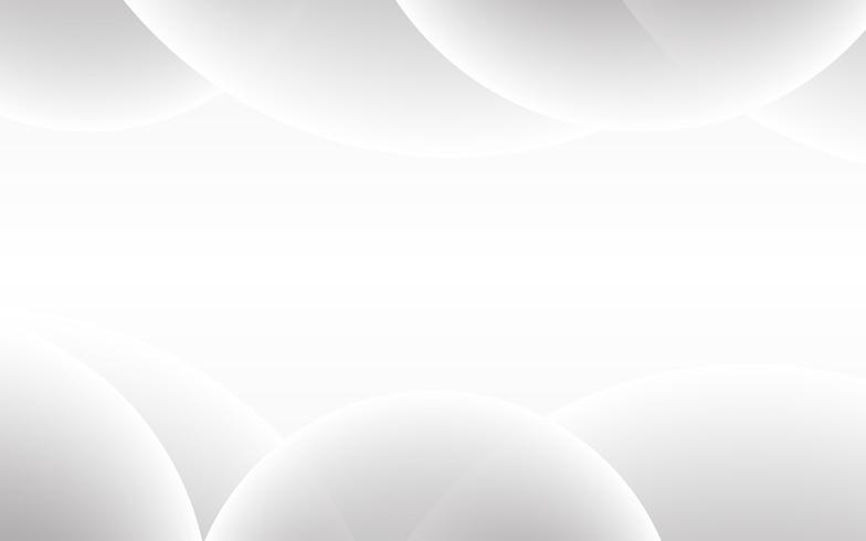 Vector abstracto blanco del fondo. Resumen gris. Fondo de diseño moderno para la plantilla de presentación de informe y proyecto. Ilustración vectorial gráfico. Concepto de forma de curva futurista y circular.