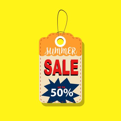 Summer Sale Tags up to 50% Design