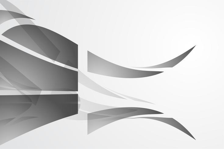 Weißer abstrakter Hintergrundvektor. Grau abstrakt. Hintergrund des modernen Designs für Berichts- und Projektpräsentationsschablone. Vektor-Illustration Grafik. Feuer und Wellenform. Produktwerbung vorhanden