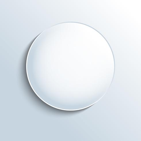 Vitt glas sfär formknapp