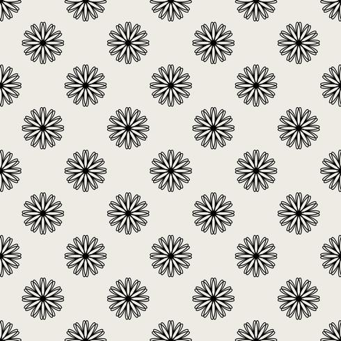 Seamless pattern background. Modern abstract and Classical antique concept. Geometric creative design stylish theme. Illustration vector. Black and white color. Floral and Flower shape vector