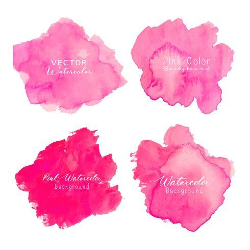 Fondo rosado abstracto de la acuarela. Elemento acuarela para tarjeta. Ilustracion vectorial