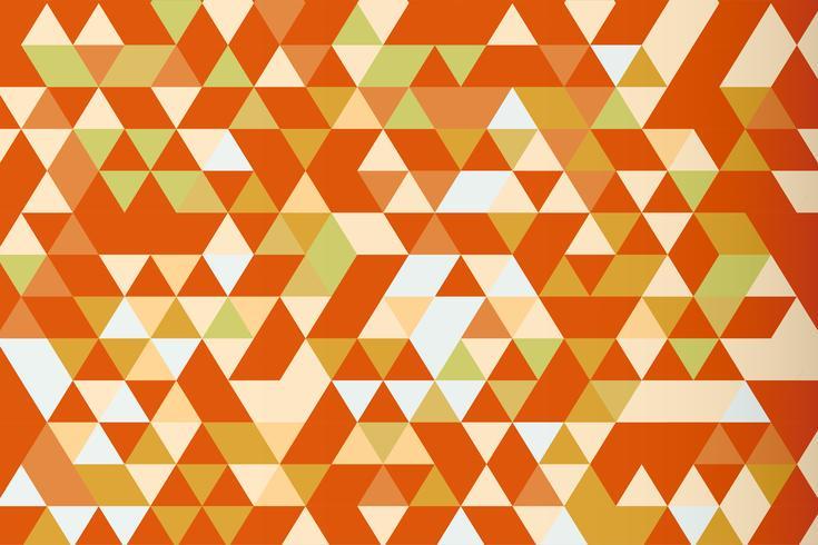 Fondo de vector prisma triángulo mosaico naranja, tono cálido